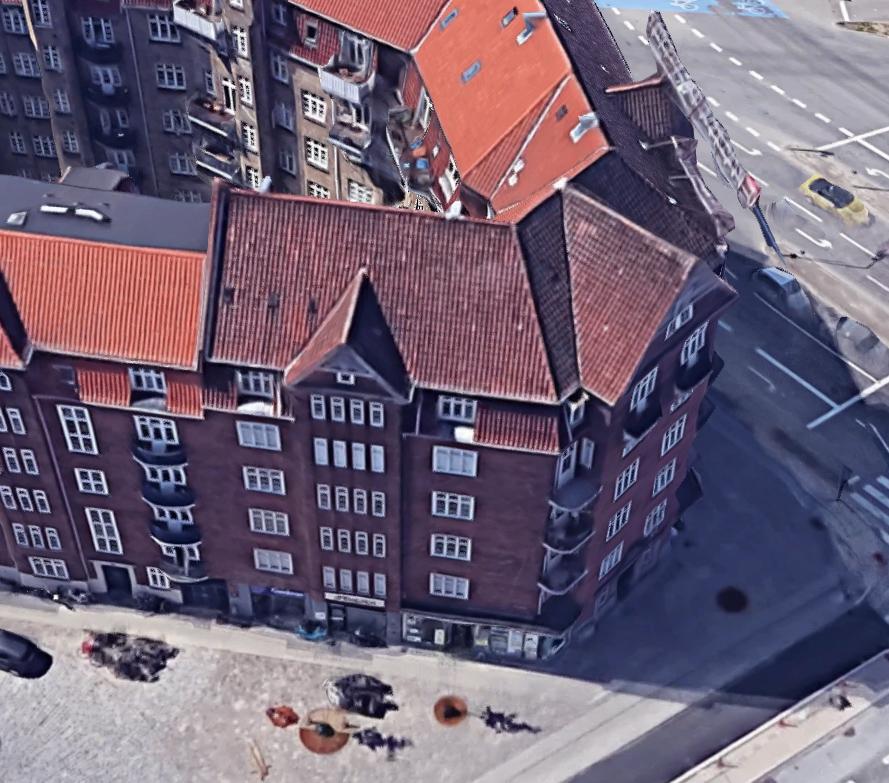 Demonstrationsprojekt med lydruder - Luftfoto mod Amagerbrogade